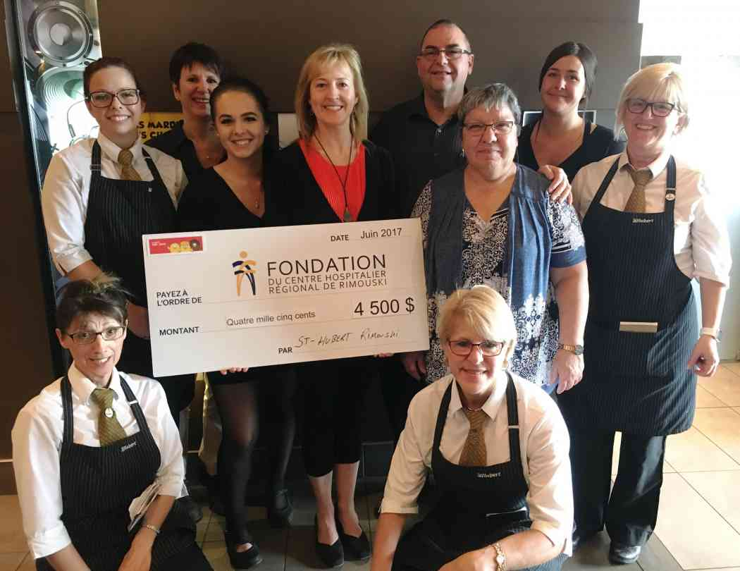 DON DE LA FONDATION ST-HUBERT : 4 500 $ POUR LA FONDATION